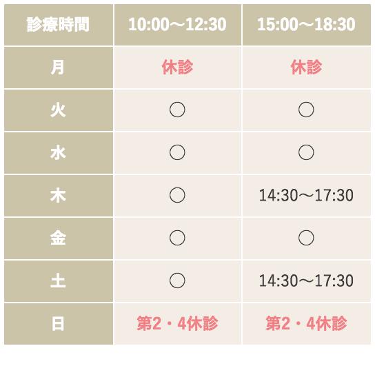 広島のソレイユ矯正歯科 診療時間と休診のお知らせ